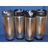 4 CONTAINERS INOX 18,7L SODA KEG TYPE NC OCCASION SANS SOUPAPE DE DECOMPRESSION