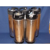 5 CONTAINERS INOX 18,7L SODA KEG TYPE NC OCCASION SANS SOUPAPE DE DECOMPRESSION
